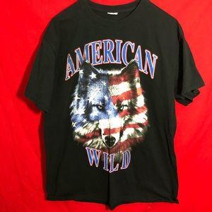 American wild wolf shirt
